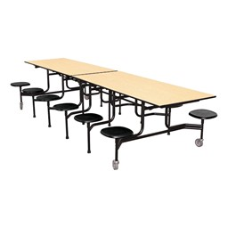 59TV Series Mobile Folding Stool Cafeteria Table w/ black stools