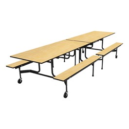 59TV Series Mobile Folding Bench Cafeteria Table