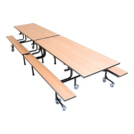 61T Series Mobile Folding Bench Cafeteria Table