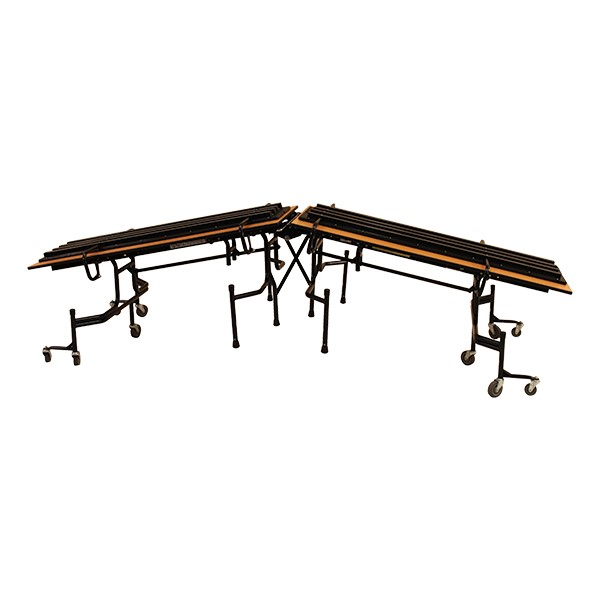 61T Series Mobile Folding Bench School Cafeteria Table - Benches flipped
