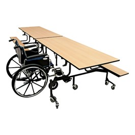 61T Series Wheelchair Accessible Folding Bench Cafeteria Table