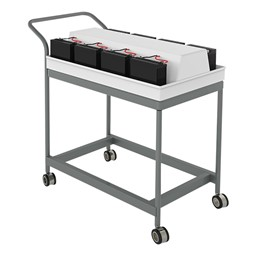 Pack of Eight Reload Flip-Top Tables w/ Recharging Cart - Reload cart