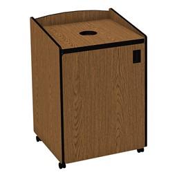 Top Load Recycling Unit w/ Liner - Oak