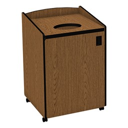 Top Load Waste Unit w/ Liner - Oak