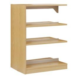 Double-Sided Wood Shelving - Adder Unit