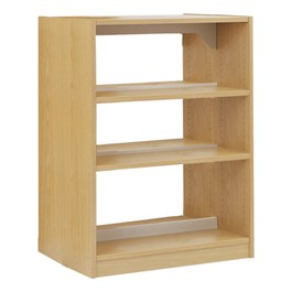 Double-Sided Wood Shelving