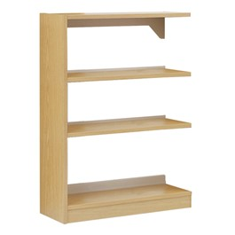Single-Sided Wood Shelving – Adder Unit