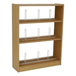 Single-Sided Picture Book Shelving – Starter Unit w/ Wood Shelves
