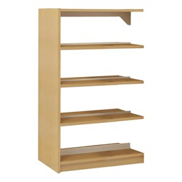 Double-Sided Wood Shelving – Adder Unit