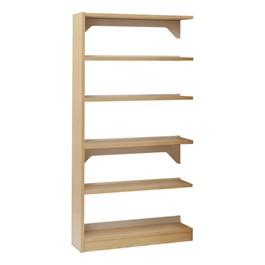 Single-Sided Wood Shelving – Adder Unit