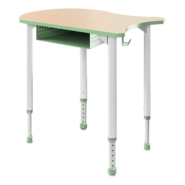A&D Koi Adjustable-Height Student Desk w/ Book Box