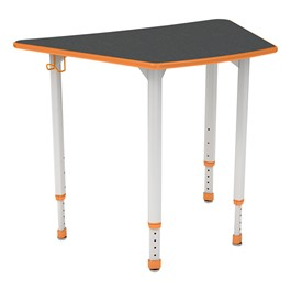 A&D Trapezoid Adjustable-Height Student Desk