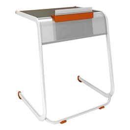 A&D Cantilever Student Desk w/ Tablet Holder