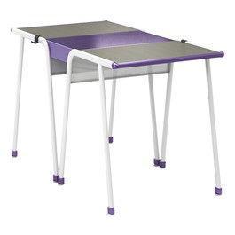 A&D Two-Student K-Leg Desk w/ Idea Bridge