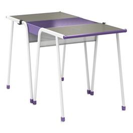 A&D Two-Student K-Leg Desk w/ Idea Bridge