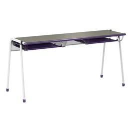 "A&D K-Leg Student Desk w/ Book Box & Tablet Holder (60\"" W x 20\"" D x 28\"" H)"