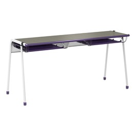"A&D K-Leg Student Desk w/ Book Box & Tablet Holder (60"" W x 20\"" D x 28\"" H)"