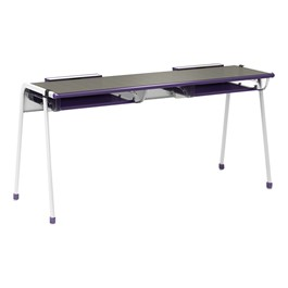 "A&D K-Leg Student Desk w/ Book Box & Tablet Holder (54"" W x 20\"" D x 28\"" H)"
