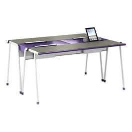 A&D Four-Student Desk w/ Tablet Idea Bridge