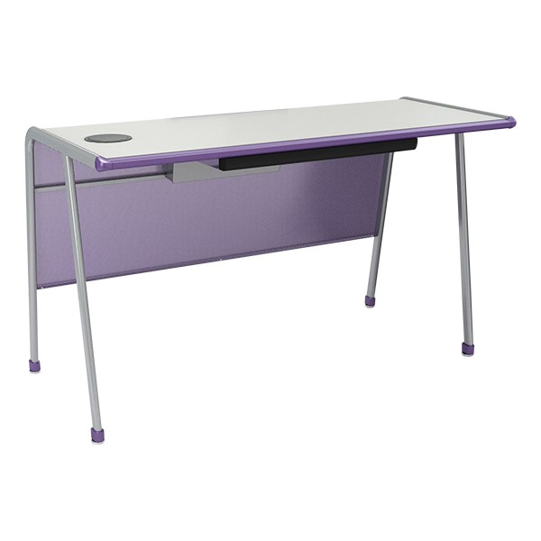 A&D Teacher Desk w/Pencil Drawer & Power Outlets