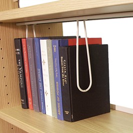 Wire Book Support Accessory - Installed under Wood Shelves
