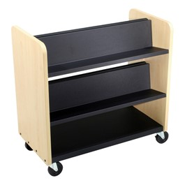 Book Truck - Black shelf shown