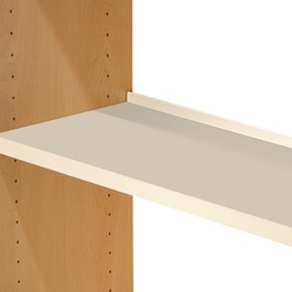 Flat Steel Shelf w/ Deflecta-Stop