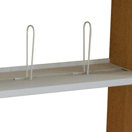 PBS Steel Shelf w/ Four Adjustable Wire Book Supports