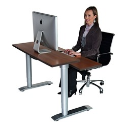 Vox Adjustable Dual Surface Workstation - Sitting Position