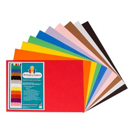 "Bright Colors Sulphite Construction Paper (12"" W x 18\"" L) - Assorted"