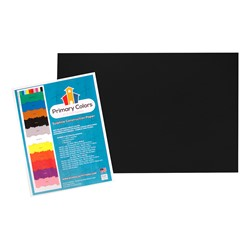 "Bright Colors Sulphite Construction Paper (12"" W x 18"" L) - Black"