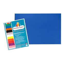 "Bright Colors Sulphite Construction Paper (12"" W x 18"" L) - Blue"