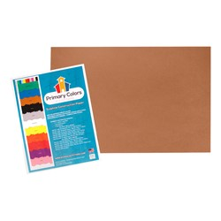 "Bright Colors Sulphite Construction Paper (12"" W x 18"" L) - Brown"