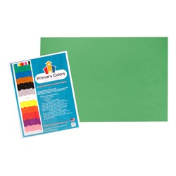 "Bright Colors Sulphite Construction Paper (12"" W x 18"" L) - Festive Green"
