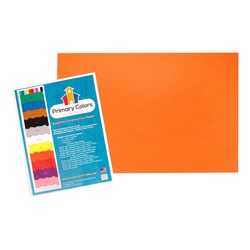 "Bright Colors Sulphite Construction Paper (12"" W x 18"" L) - Orange"