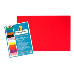 "Bright Colors Sulphite Construction Paper (12"" W x 18"" L) - Red"