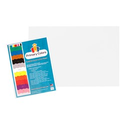 "Bright Colors Sulphite Construction Paper (12"" W x 18"" L) - Bright White"