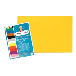 "Bright Colors Sulphite Construction Paper (12"" W x 18"" L) - Yellow"