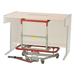 "Mighty King Original Desk Lift w/ Computer & Utility Table Lift Attachment - 2 1/2"" Casters (32"" W)"