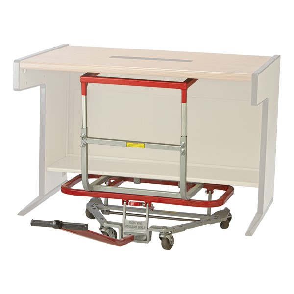 """Mighty King Original Desk Lift w/ Computer & Utility Table Lift Attachment - 3"""" Casters (40"""" W)"""