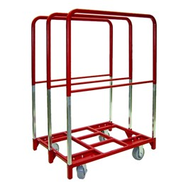 "Panel Mover w/ Extra Tall Uprights - 8"" Quiet Poly Casters - Two Fixed, Two Swivel"