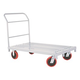 "Heavy Duty Platform Truck - 8"" Quiet Poly Casters (Four Swivel)"