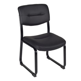 Crusoe Leather Side Chair w/o Arms