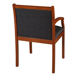 Regent Guest Chair - Fabric Upholstery (Shown in black & cherry)