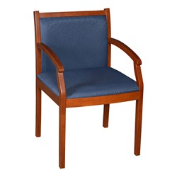 Regent Guest Chair - Fabric Upholstery (Shown in blue & cherry)