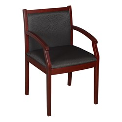 Regent Guest Chair - Fabric Upholstery (Shown in black & mahogany)