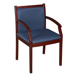 Regent Guest Chair - Fabric Upholstery (Shown in blue & mahogany)