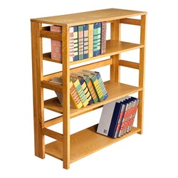 Flip Foldable Bookcase w/ Three Shelves