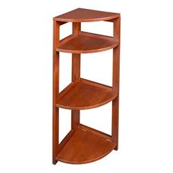 Flip Foldable Corner Bookcase - Cherry