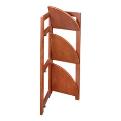 Flip Foldable Corner Bookcase - Partially folded